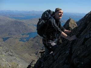 High on Sgurr du Mhor, Cuillin Ridge, Isle of Skye