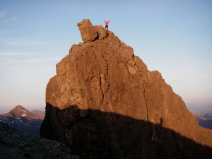 celebrating on the summit of the Inaccessible Pinnacle