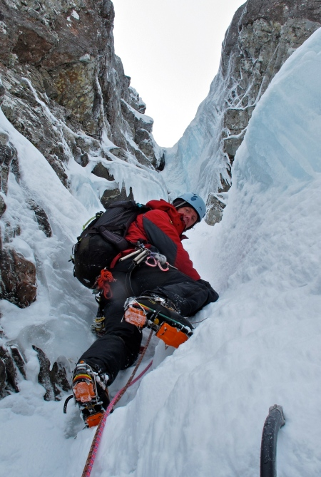 Smith's Gully, the final steep pitch