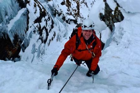 Eas Anie, main icefall
