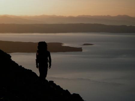 Sunrise heading to the Cuillin ridge