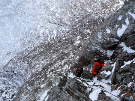 Fine exposure, North Buttress, pitch 3.