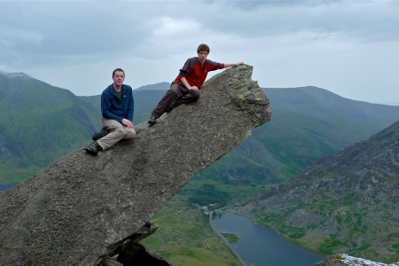 Canon Stone. North Ridge of Tryfan