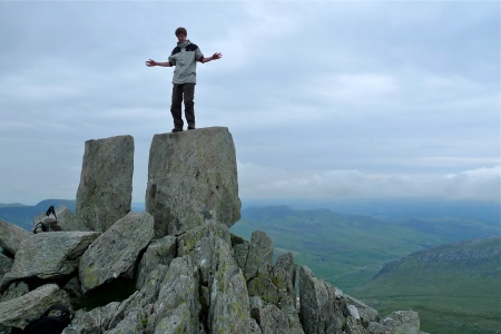 The Adam and Eve stones on the summit of Tryfan