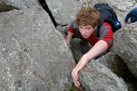 adding 'extra interest!' near the summit of Bristly Ridge