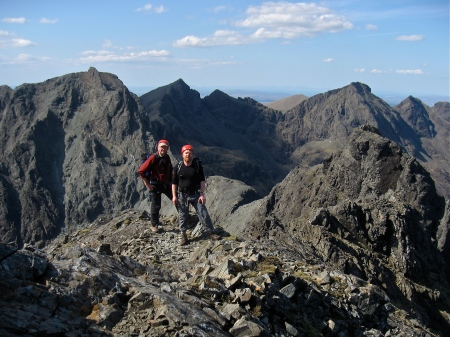 The northern half of the Cuillin Ridge from Sgurr Thearlaich