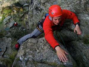 Learning to lead in the Llanberis Pass